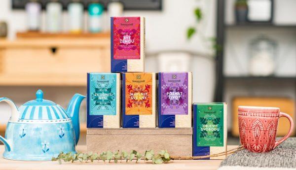 Řada bio čajů od Sonnentoru s názvem Štěstí je...